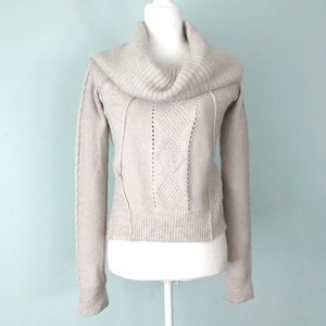 All Saints Cowl Neck Cable Knit Sweater Size US 2